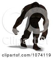 Clipart 3d Bigfoot Walking Royalty Free CGI Illustration
