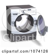 Clipart 3d Front Loader Laundry Washing Machine Or Dryer 2 Royalty Free CGI Illustration