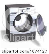 Clipart 3d Front Loader Laundry Washing Machine Or Dryer 3 Royalty Free CGI Illustration