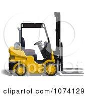 Clipart 3d Warehouse Forklift 2 Royalty Free CGI Illustration