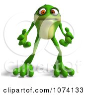 Clipart 3d Mad Frog Royalty Free CGI Illustration by Ralf61