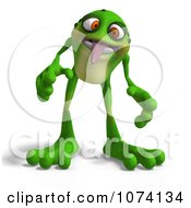 Clipart 3d Frog Sticking His Tongue Out Royalty Free CGI Illustration