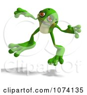 Clipart 3d Frog Jumping Royalty Free CGI Illustration by Ralf61