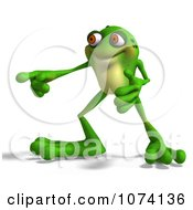 Clipart 3d Frog Pointing 1 Royalty Free CGI Illustration by Ralf61