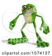 Clipart 3d Frog Royalty Free CGI Illustration by Ralf61