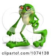 Clipart 3d Frog Walking Royalty Free CGI Illustration by Ralf61