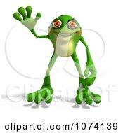 Clipart 3d Frog Waving Royalty Free CGI Illustration by Ralf61