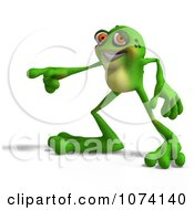 Clipart 3d Frog Pointing 2 Royalty Free CGI Illustration by Ralf61