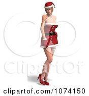 3d Sexy Lady In A Santa Suit 1