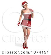 Clipart 3d Sexy Lady In A Santa Suit 2 Royalty Free CGI Illustration