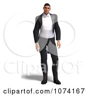 Clipart 3d Formal Man In A Tuxedo 2 Royalty Free CGI Illustration