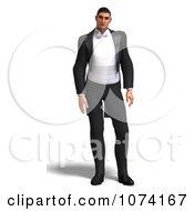 Clipart 3d Formal Man In A Tuxedo 2 Royalty Free CGI Illustration