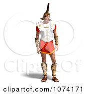 Clipart 3d French Legionnaire Soldier In Uniform Royalty Free CGI Illustration