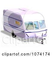 Clipart 3d Caravan Camper Travel Trailer Royalty Free CGI Illustration