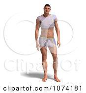 Clipart 3d Man In A Short Shirt And Shorts Royalty Free CGI Illustration