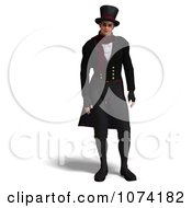Clipart 3d Man In A Vintage Suit Royalty Free CGI Illustration