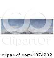 Clipart 3d Panoramic Mountain Landscape 1 Royalty Free CGI Illustration