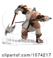 Clipart 3d Strong Barbarian Man Fighting With A Sword And Axe 6 Royalty Free CGI Illustration by Ralf61