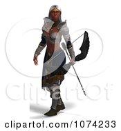 Clipart 3d Female Fantasy Archer Elf Royalty Free CGI Illustration
