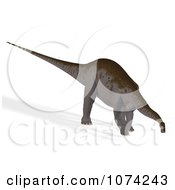 Clipart 3d Prehistoric Apatosaurus Dinosaur 1 Royalty Free CGI Illustration by Ralf61