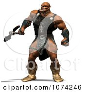 Clipart 3d Ogre Holding An Axe Royalty Free CGI Illustration by Ralf61