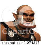 Clipart 3d Ogre Face Royalty Free CGI Illustration by Ralf61