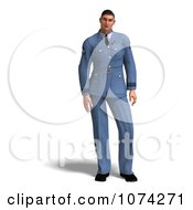 Clipart 3d Man In A Blue Air Force Uniform Royalty Free CGI Illustration
