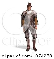 Clipart 3d Man Wearing A Romeo Costume Royalty Free CGI Illustration