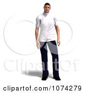 Clipart 3d Male Nurse In Uniform Royalty Free CGI Illustration