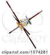 Clipart 3d Cassini Satellite 3 Royalty Free CGI Illustration