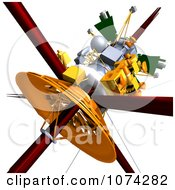 Clipart 3d Cassini Satellite 4 Royalty Free CGI Illustration