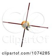 Clipart 3d Cassini Satellite 2 Royalty Free CGI Illustration