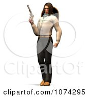 Clipart 3d Gunslinger Man Standing Royalty Free CGI Illustration by Ralf61
