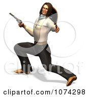 Clipart 3d Gunslinger Man Lunging 1 Royalty Free CGI Illustration by Ralf61