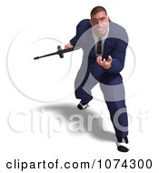 Clipart 3d Mafia Gangster With A Tommy Gun 2 Royalty Free CGI Illustration