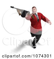 Clipart 3d Mafia Gangster With A Tommy Gun 3 Royalty Free CGI Illustration