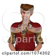 Clipart 3d Pioneer Mountain Man Royalty Free CGI Illustration