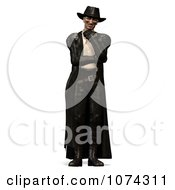 Clipart 3d Steam Punk Man In Leather 2 Royalty Free CGI Illustration by Ralf61