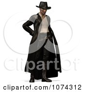 Clipart 3d Steam Punk Man In Leather 1 Royalty Free CGI Illustration