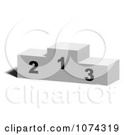 Clipart 3d Sports Placement Pedestal Royalty Free CGI Illustration