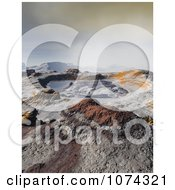 Clipart 3d Scenic Mountainous Crater Landscape Royalty Free CGI Illustration