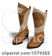 Clipart 3d Pair Of Leather Cowboy Boots Royalty Free CGI Illustration
