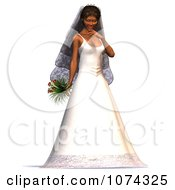 Clipart 3d Oriental Bride Royalty Free CGI Illustration