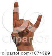 Clipart 3d Hang Loose Hand Royalty Free CGI Illustration