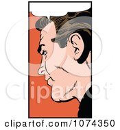 Clipart Retro Pop Art Man With A Speech Balloon 1 Royalty Free Vector Illustration by brushingup #COLLC1074350-0171