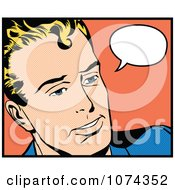 Clipart Retro Pop Art Man With A Speech Balloon 2 Royalty Free Vector Illustration by brushingup #COLLC1074352-0171