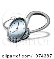3d Clock Face On A Stethoscope