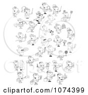 Clipart Outlined Occupational People Royalty Free Vector Illustration by Hit Toon