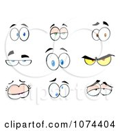 Clipart Expressional Eyes Royalty Free Vector Illustration