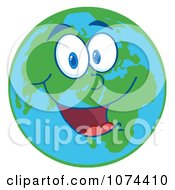Clipart Cheerful Earth Royalty Free Vector Illustration